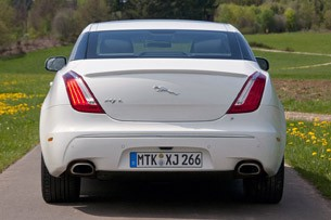 2012 Jaguar XJ Sport and Speed rear view