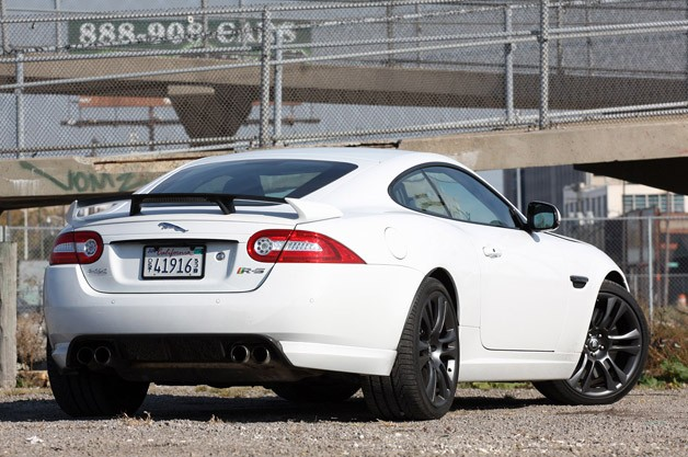 2012 Jaguar XKR-S rear 3/4 view