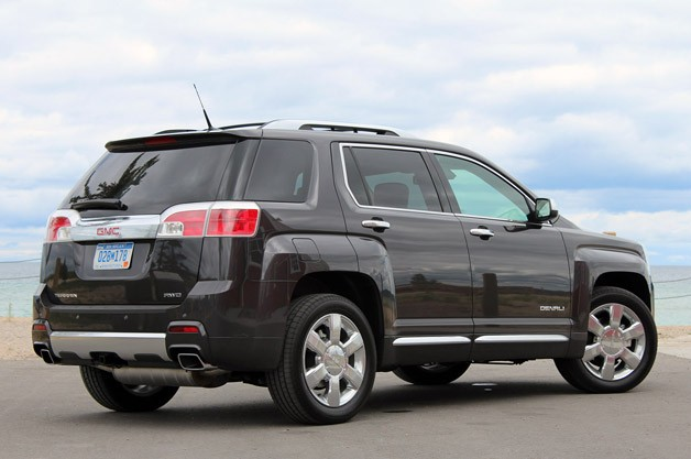 2013 GMC Terrain Denali rear 3/4 view