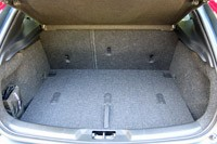 2013 Volvo V40 rear cargo area