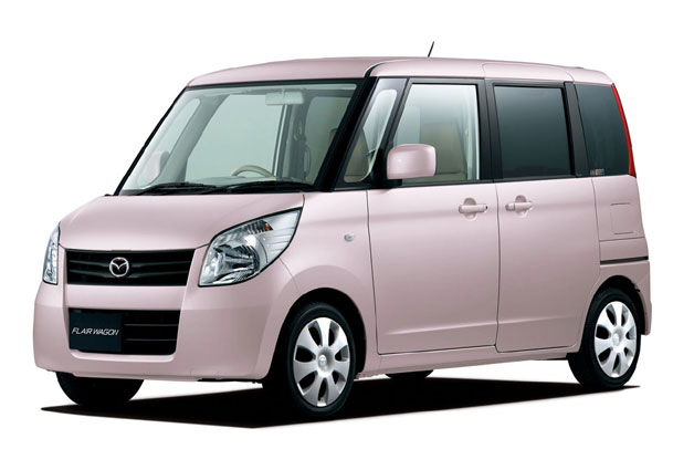 New Mazda Flairwagon - pink - front three-quarter view