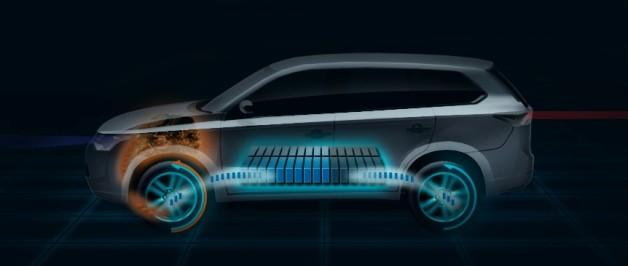 Mitsubishi Outlander plug-in hybrid teaser
