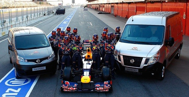 Nissan NV vans for Red Bull Racing