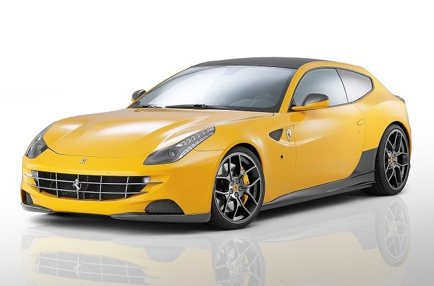 Ferrari FF by Novitec Rosso - yellow - front three-quarter studio view