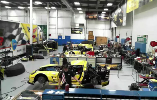 Pratt &amp; Miller Corvette shop - vid screencap