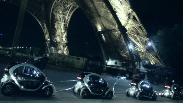 Renault plugs Twizy EVs in to Eiffel Tower, raves it up