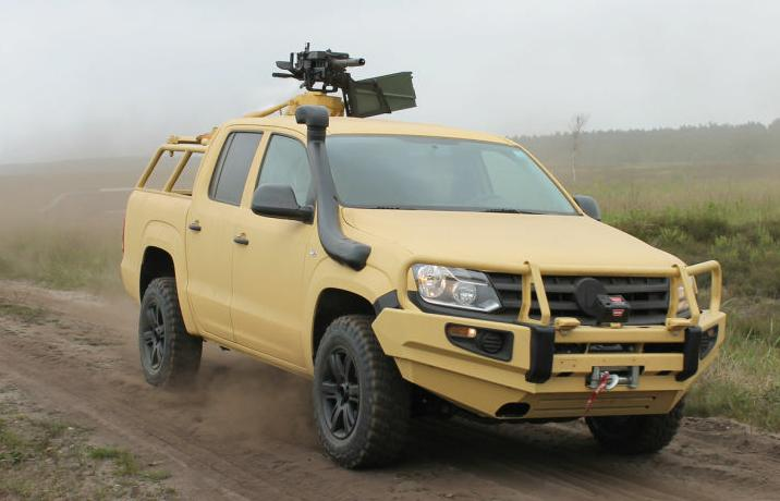 Rheinmetall Defense Outfits Volkswagen Amarok For World