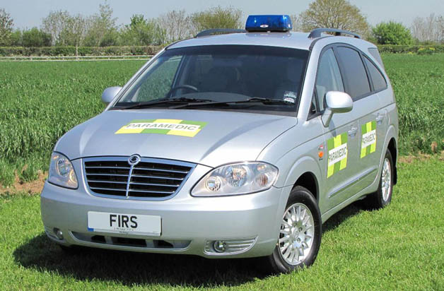 rodius ambulance SsangYong Rodius called into duty as off road ambulance