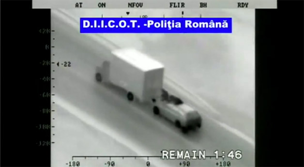 Romanian moving truck theft attempt