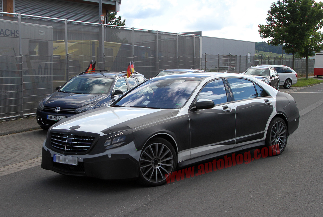 next mercedes benz s class spotted with amg trimmings autoblog. Black Bedroom Furniture Sets. Home Design Ideas