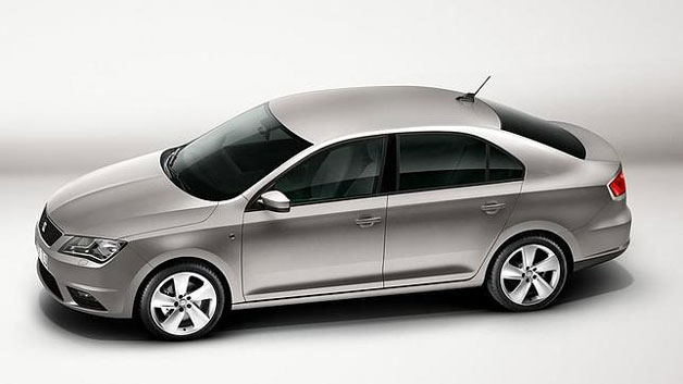 2013 Seat Toledo - silver studio shot, overhead profile