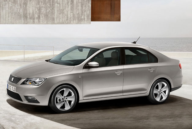 2013 Seat Toledo - silver - front three-quarter view