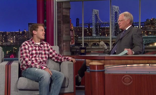 Sebastian Vettel on Late Night With David Letterman