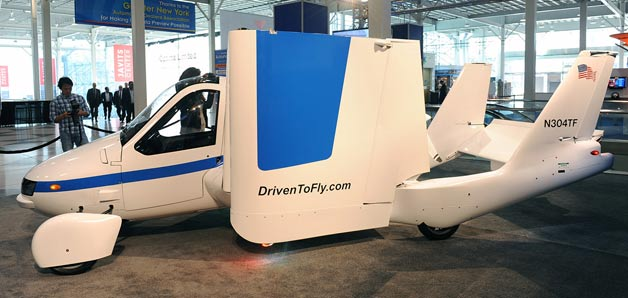 terrafugia flying car at new york show