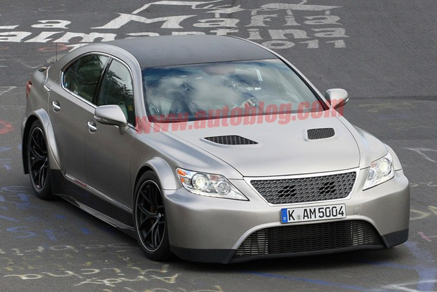 Lexus LS 650 TMG prototype testing on 'Ring (spy shot)