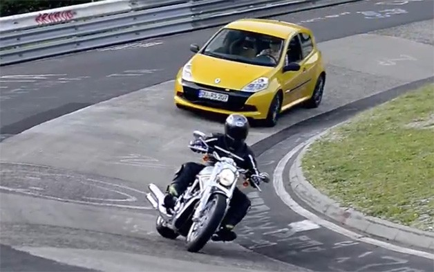 Harley-Davidson V-Rod on the Nurburgring