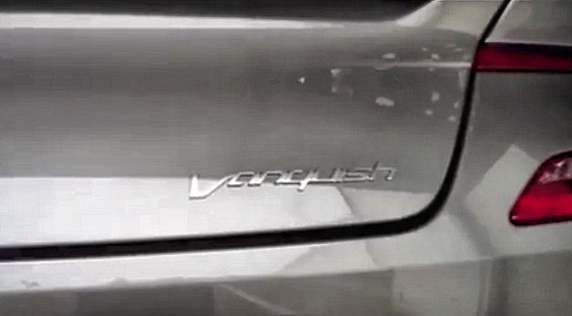 vanquish badge Aston Martins DBS successor resurrects Vanquish moniker, with likely Pebble Beach debut