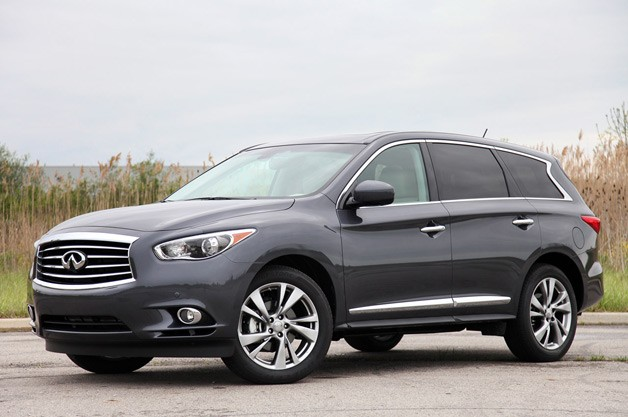 2013 Infiniti JX35 - front three-quarter view - static