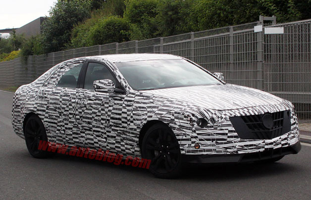 2014 Cadillac CTS caught testing without cladding