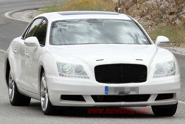 Bentley Continental Flying Spur - next-gen spy shot, camouflaged