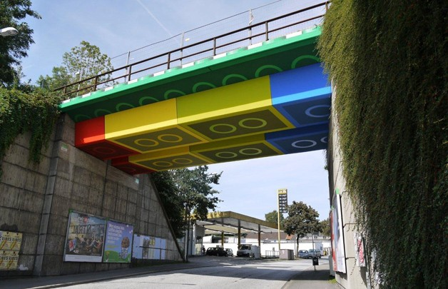 Megx Lego Bridge street art
