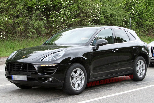 Porsche Macan mule - front three-quarter view