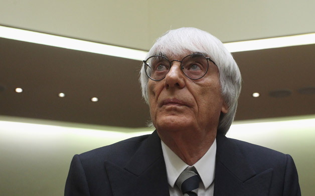 F1 boss Bernie Ecclestone suited up