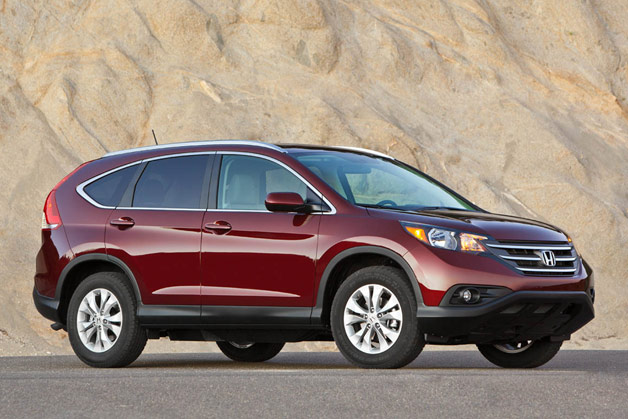 2012 Honda CR-V - Maroon - front three-quarter view