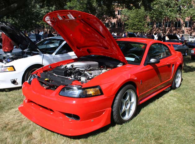 2000 Ford Mustang SVT Cobra R - 2,075 original miles. Red.