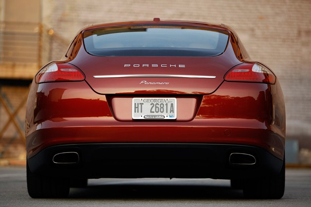 2011 Porsche Panamera - low rear view - maroon