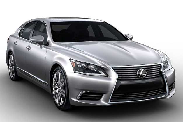 2013 Lexus LS 460 L - silver - front three-quarter studio view