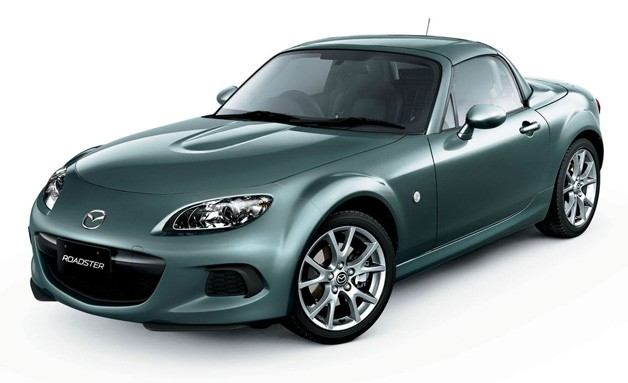 2013 Mazda Roadster - a.k.a. MX-5 Miata - gray-green with PRHT