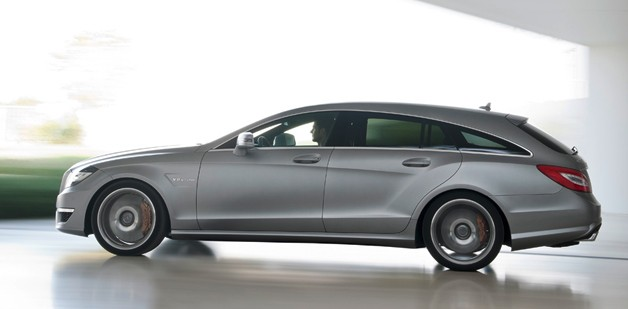 2013 CLS63 AMG Shooting Brake - dynamic profile view - silver