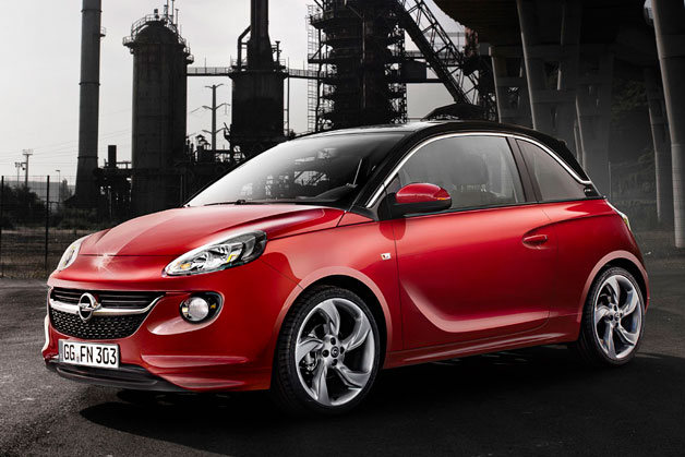 Opel Adam - red three-quarter view
