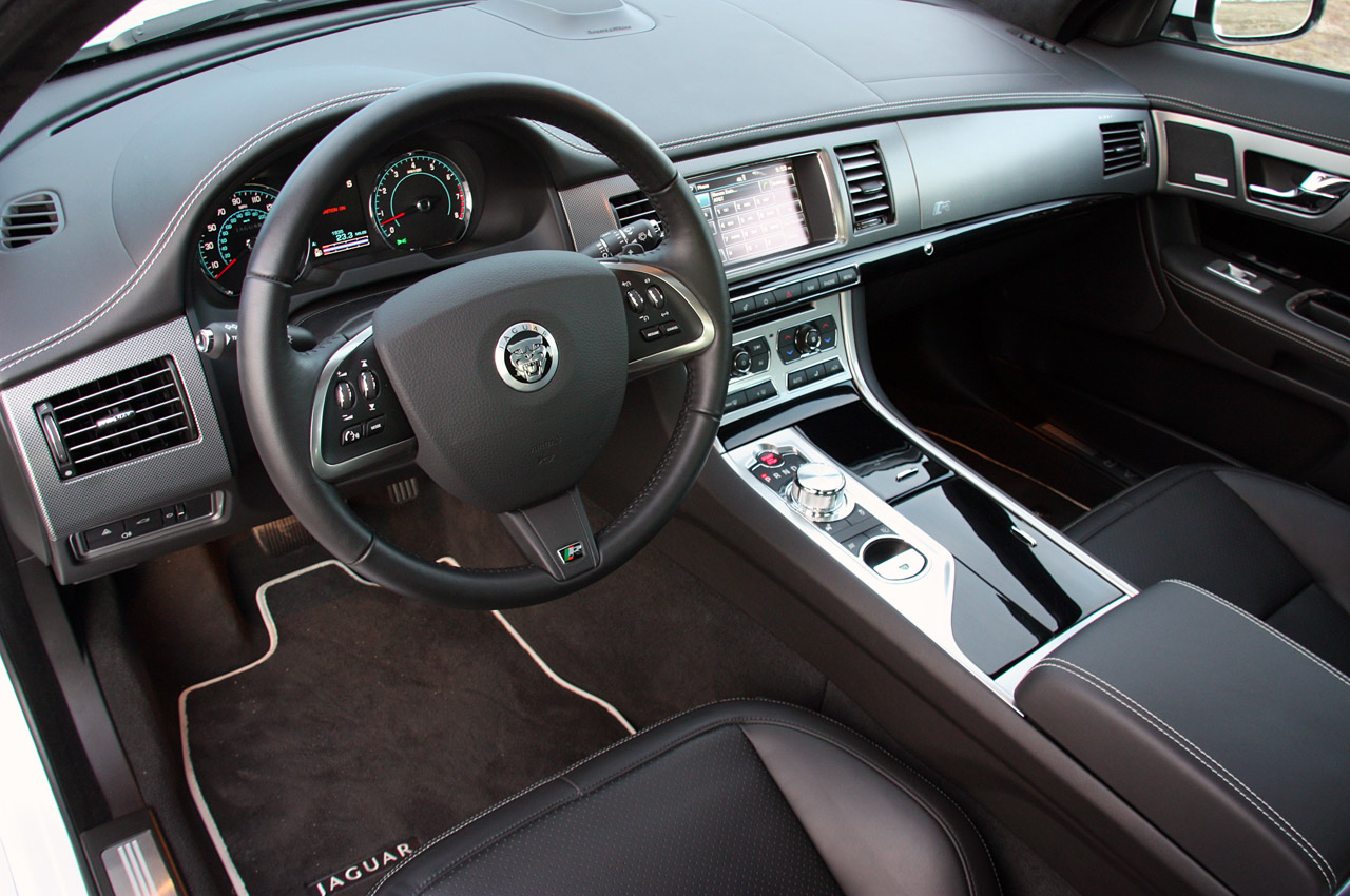 2012 jaguar xfr review photo gallery autoblog for All blacks interiors