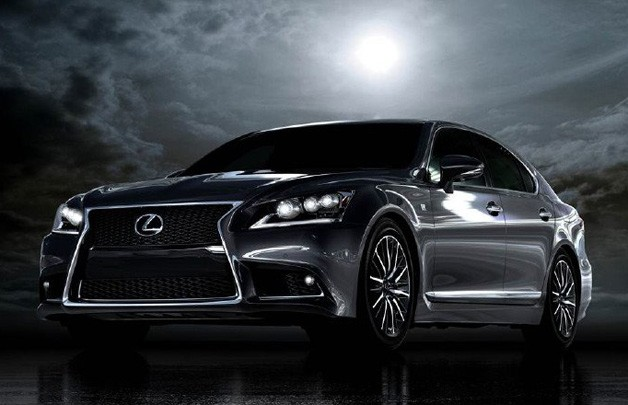 2013 Lexus LS 460 F Sport - front three-quarter view in the moonlight