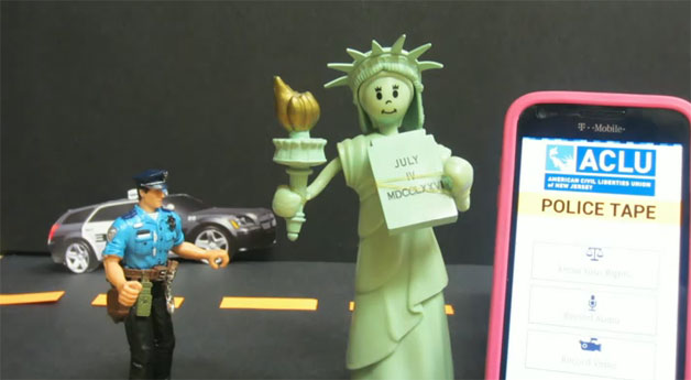 ACLU-NJ police encounter recording app - how-to video screencap