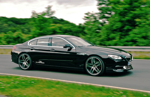 AC Schnitzer-tuned BMW 6 Series Gran Coupe - black - motion shot