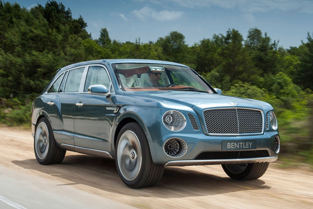 Bentley EXP 9 F concept SUV - front three-quarter dynamic view