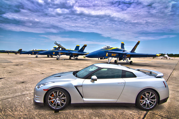 Nissan GTR with The Blue Angels