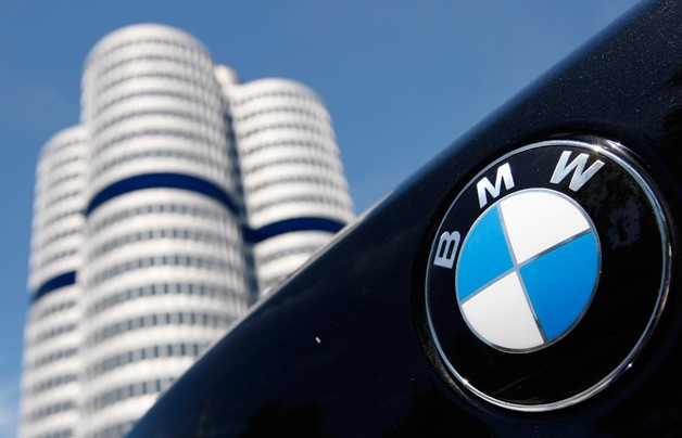 BMW logo with headquarters