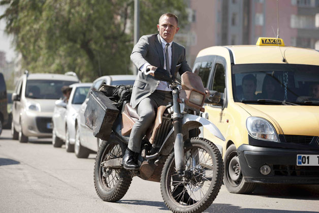 bondhondaskyfall Honda is James Bonds two wheeler of choice in <i>Skyfall</i> [w/video]