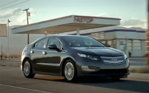 Chevrolet Volt Ad - dynamic front three-quarter shot