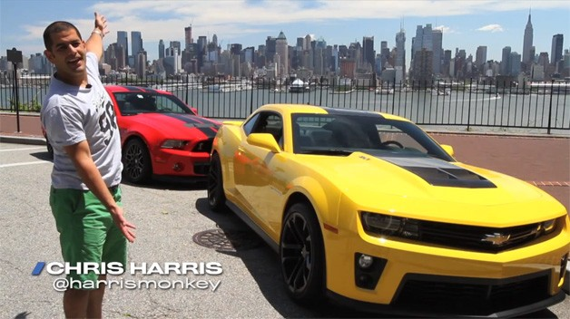 Video: Ford Shelby GT500 and Chevy Camaro ZL1 compared by Chris Harris