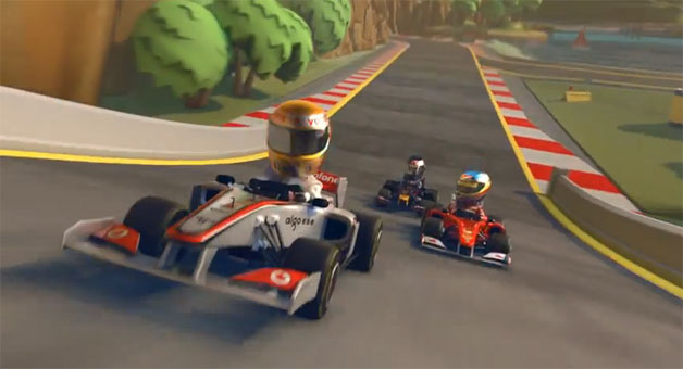 Codemasters' new F1 Race Stars - game screencap
