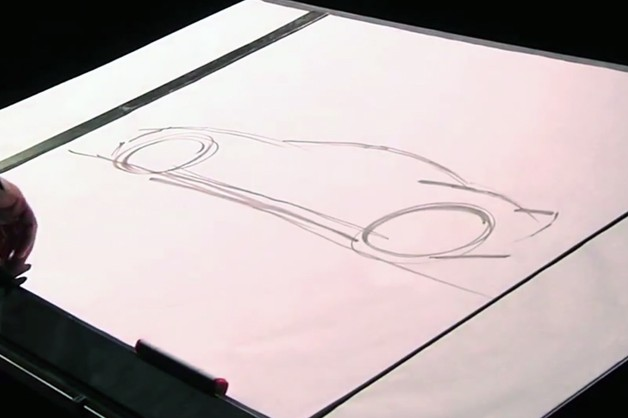 Henrik Fisker drawing during his TED Talk