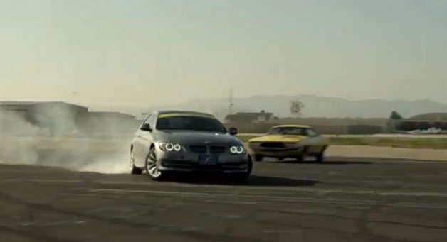 Goodyear tire commercial with BMW 3 Series and secret stunt driver