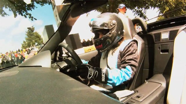 Jade Pavely in the Mazda MX-5 GT Concept at the Goodwood Festival of Speed