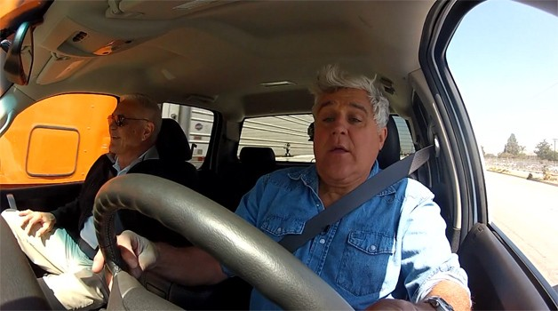jay leno and bob lutz 628 Bob Lutz and his Volt like truck visit Jay Lenos Garage
