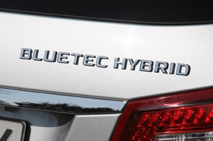 2012 Mercedes E 300 BlueTEC Hybrid badge